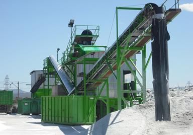 Proceso de reciclaje de parabrisas