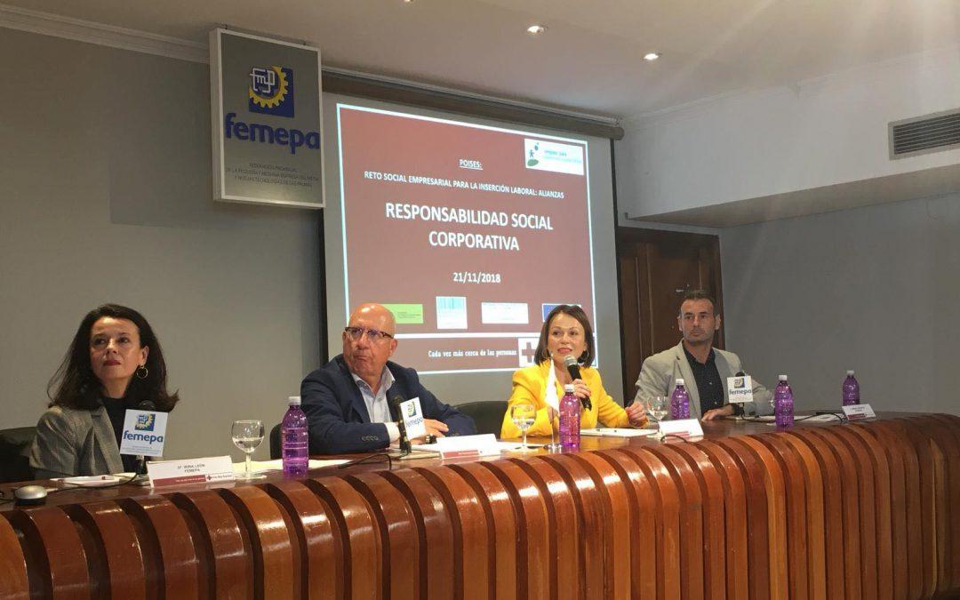 Ecobrisas invitada por Femepa y Cruz Roja como caso de éxito de empresa con Responsabilidad Social Corporativa