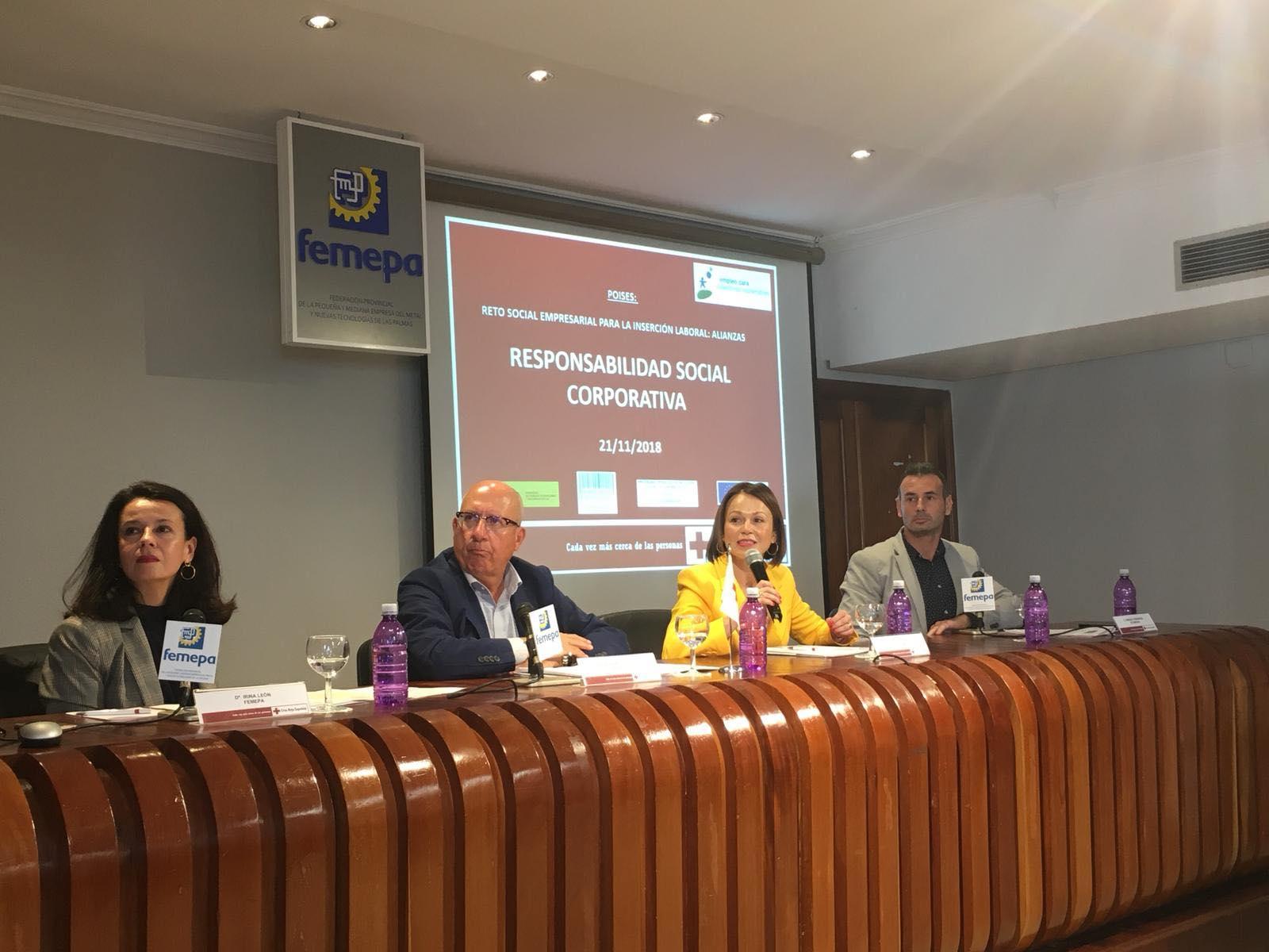 Ecobrisas en la charla sobre responsabilidad social de Cruz Roja y Femepa