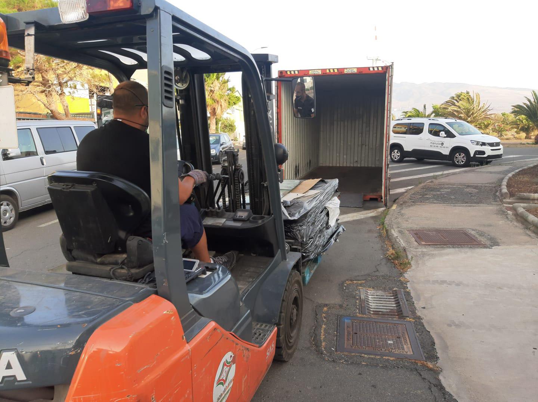 envio de vidrios de automovil a la planta de reciclado