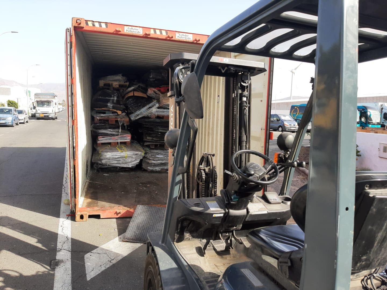 transporte de vidrios de automovil para su reciclado